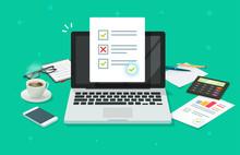 Survey Online Form On Laptop V...