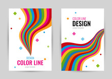 Bright Cover With Rainbow Line...