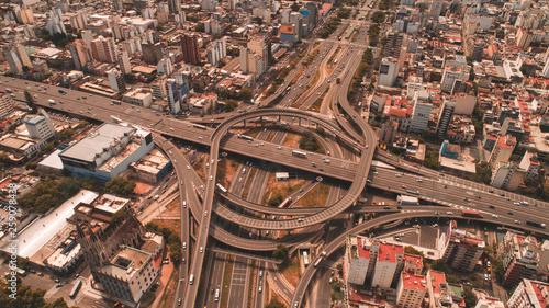 Autopista 25 de mayo Arturo frondizi 9 de julio Canvas Print