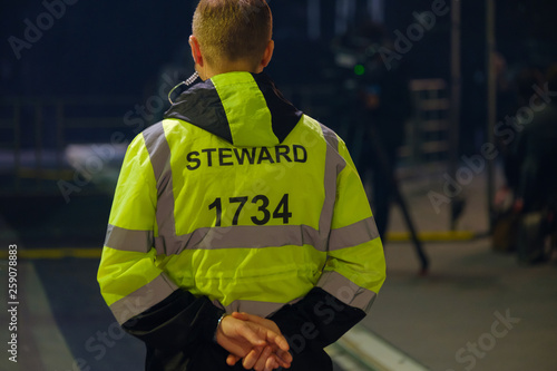 Steward works at an event