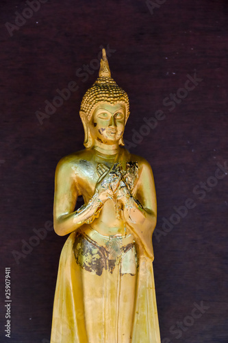 Fotografia  statue of buddha in thailand, digital photo picture as a background