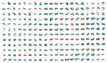 Very Big Collection Of Vector Flags Of The South Africa