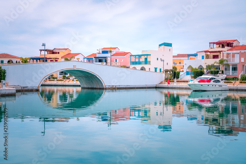 Pinturas sobre lienzo  Beautiful view of Marina, Limassol city Cyprus