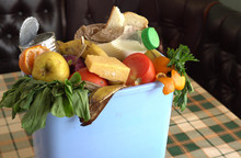 Food Waste In Trash Can. Food ...