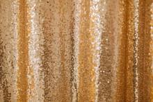 Golden Sequin Texture Background Glitter Pattern