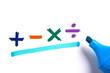 Leinwanddruck Bild - Math Concept With Mathematical Math Symbols