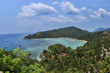 Beautiful view of the beautiful sea of Koh Tao in Thailand.