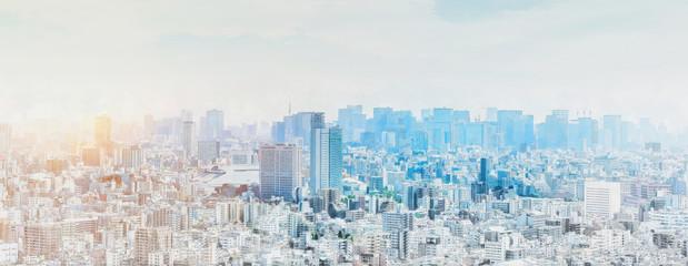 panoramiczny nowoczesny panoramę miasta mix efekt szkicu