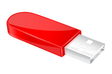 USB Flash Drive. Red Memory Stick