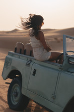 Young Female On A Desert Safar...