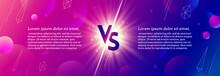 Shining Versus Logo On Abstrac...