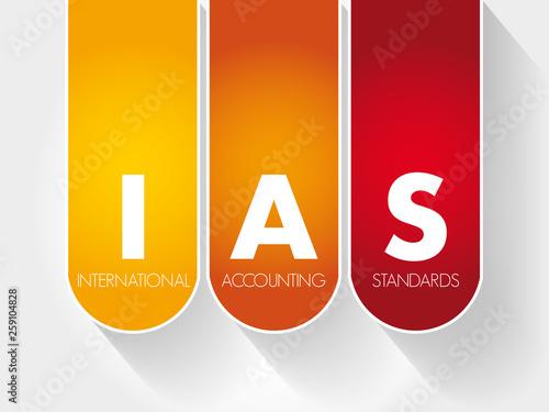 Valokuva  IAS - International Accounting Standards acronym, business concept background