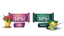Two Modern Spring Sale Banners...
