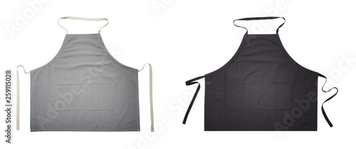 Black and gray apron for kitchen top view Fototapete