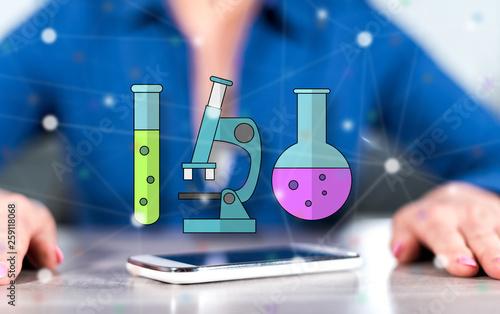 Fotografia  Concept of biotechnology