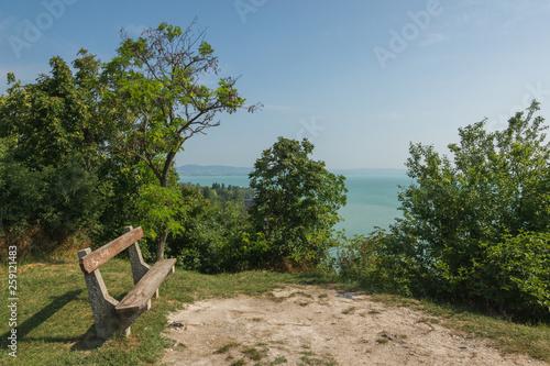 Photo  View on Balaton lake near Tihany, Hungary