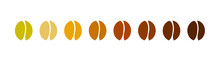 Coffee Bean Icons Collection.