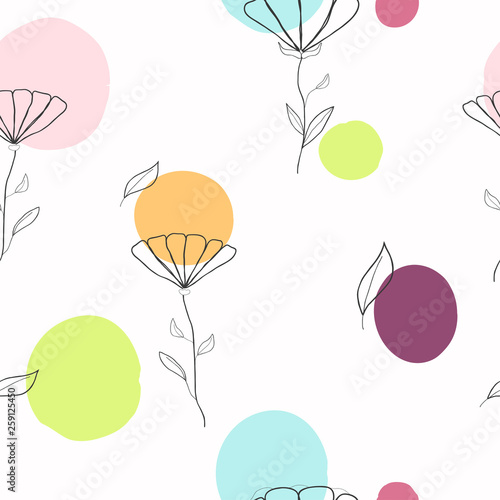 Garden Poster Retro sign cute seamless kids pattern