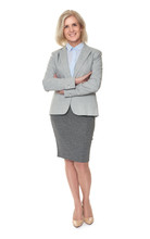 Full Length Of A Senior Business Lady
