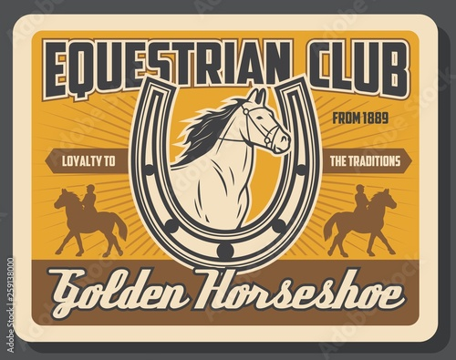 Photo Equestrian club, jockey polo horse riding sport