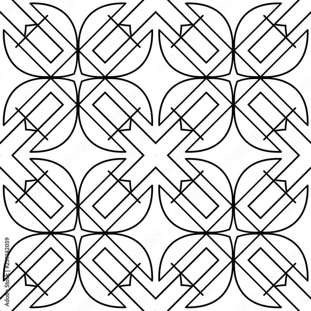Seamless geometric art deco pattern. Vintage ornamental texture
