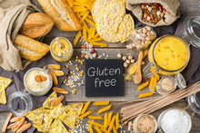 Gluten Free Food And Flour, Almond, Corn, Rice, Chickpea