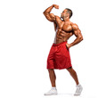 Body Builder Flexing Muscles