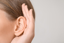 Young Woman With Hearing Probl...