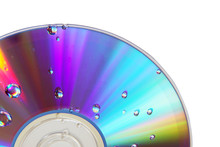 Colored Cd Isolated On White