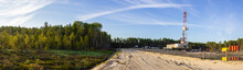 A Panorama Of A Drilling Rig O...