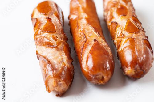 Tuinposter Grill / Barbecue ripper sausage
