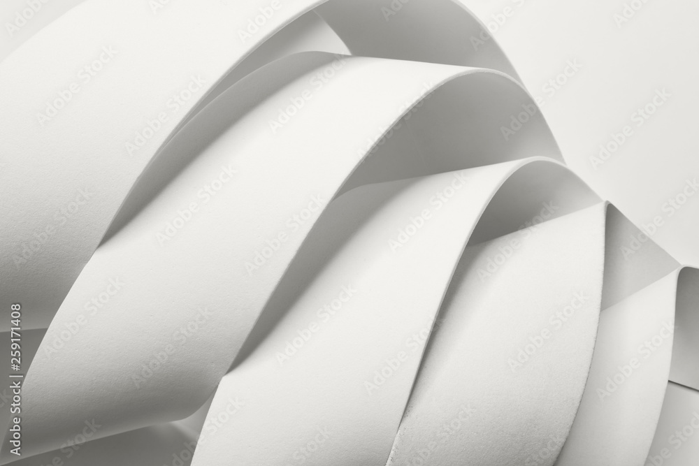 Creative image with curved elements, abstract