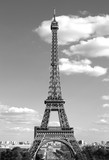 Fototapeta Fototapety z wieżą Eiffla - Eiffel Tower in Paris France with balck and white effect