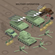Military Operation Isometric B...