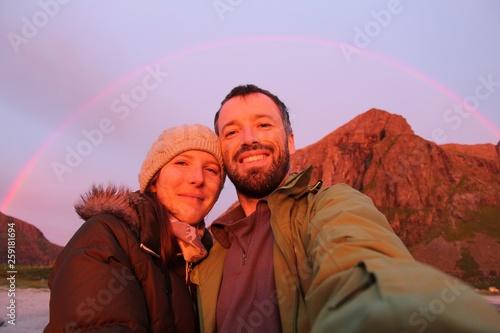 Foto op Plexiglas Purper Cold summer selfie