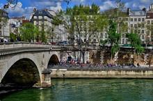 Paris; France - April 2 2017 : Louis Philippe Bridge