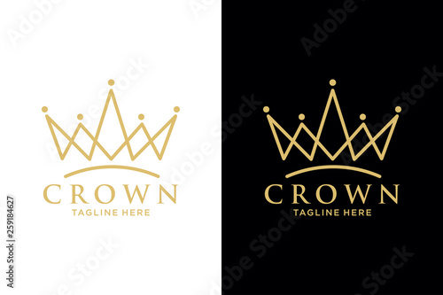 Foto Geometric Vintage Creative Crown abstract Logo design vector template