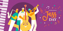 International Jazz Day Poster Of Live Music Band