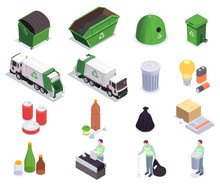 Recycling Waste Isometric Coll...