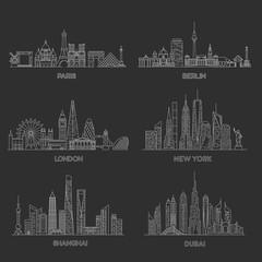 Cities skylines. Vector illustration