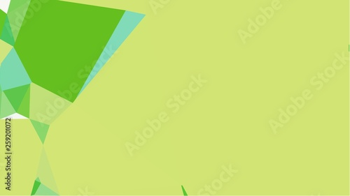 Fototapeta green simple abstract colorful background with triangles with free text space, right side obraz na płótnie