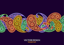Vertical Paisley Pattern. Pack...