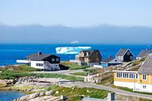 Icebergs Floating Past Nuuk Ha...