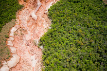 Aerial View Of Erosion Of Fore...