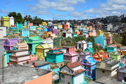 Foto  Cimetière Coloré Chichicastenango Guatemala