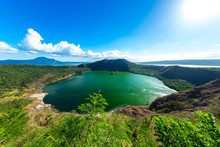 Panorama View On The Famous Taal Volcano
