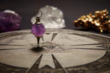 Properties Of Fortune Telling - Wooden Spiritual Chart And Pendulum