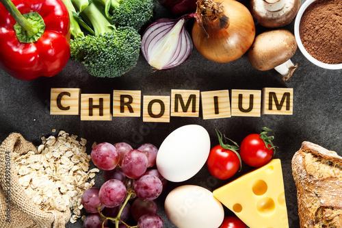 Fotomural  Food rich in chromium