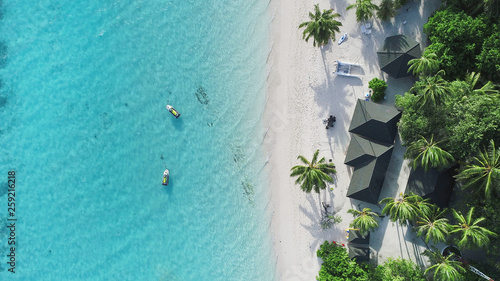 Beautiful aerial view of Maldives and tropical beach Tapéta, Fotótapéta