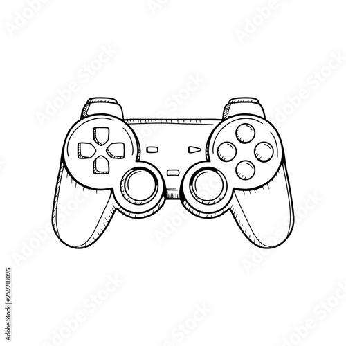 Gaming controller illustration Tableau sur Toile